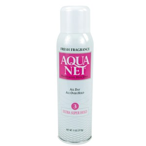 Aqua Net Hair Spray Can Safe