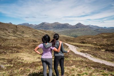 Top of Devils staircase - girls
