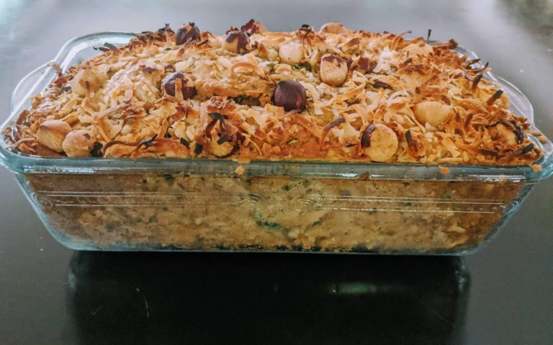 COCONUT ZUCCHINI BREAD WITH HAZELNUTS