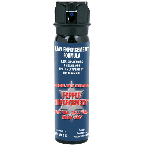 Pepper Enforcement® Brand Pepper Spray Law Enforcement Formula - 4 oz canister