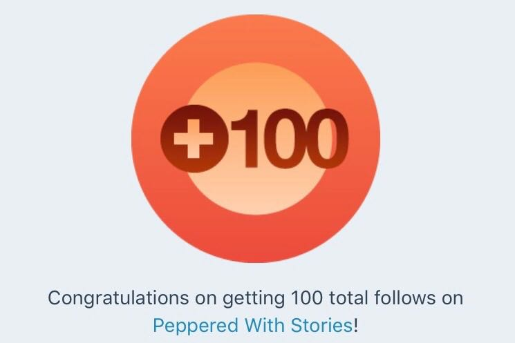 100 followers on blog