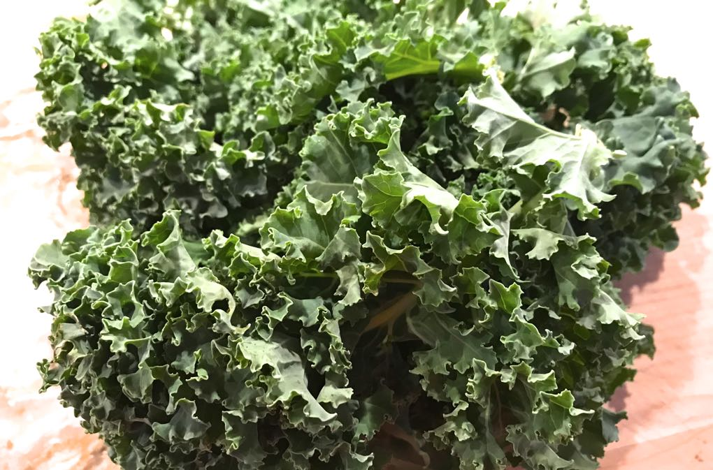 Photo of kale on a cutting board