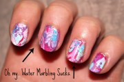 leanne marie. nails water