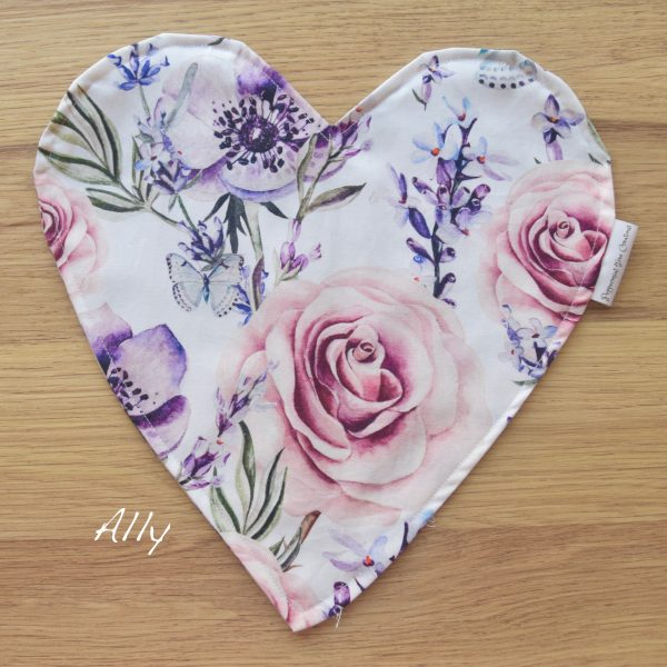 Heart Cushion in limited release fabric - Ally