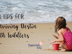 Tips for surviving Destin with toddlers. Florida vacation with kids.