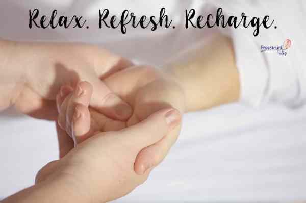 Relax Refresh Recharge Spa quote. Want more reasons to host an NYR Organic Spa party? www.pepperminttulip.com