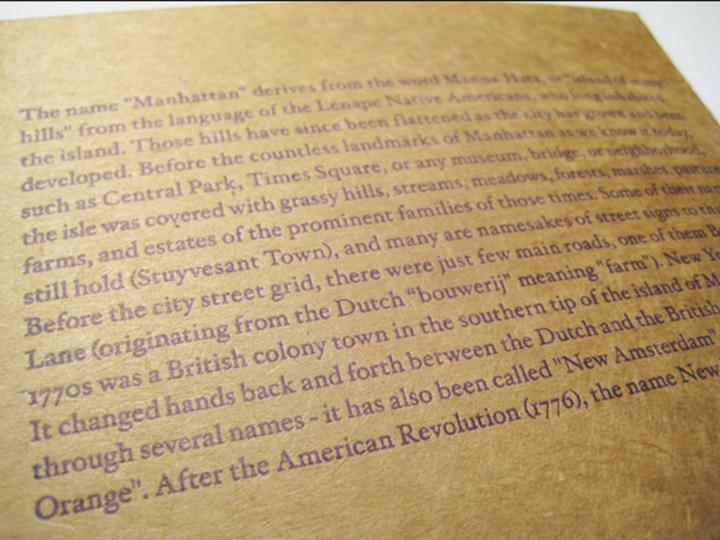 PEPPER PRESS » Manhattan Map Notecard