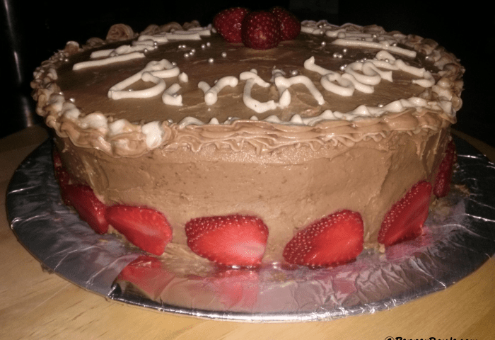Vanilla Sponge Cake With Chocolate Frosting Pepper Route