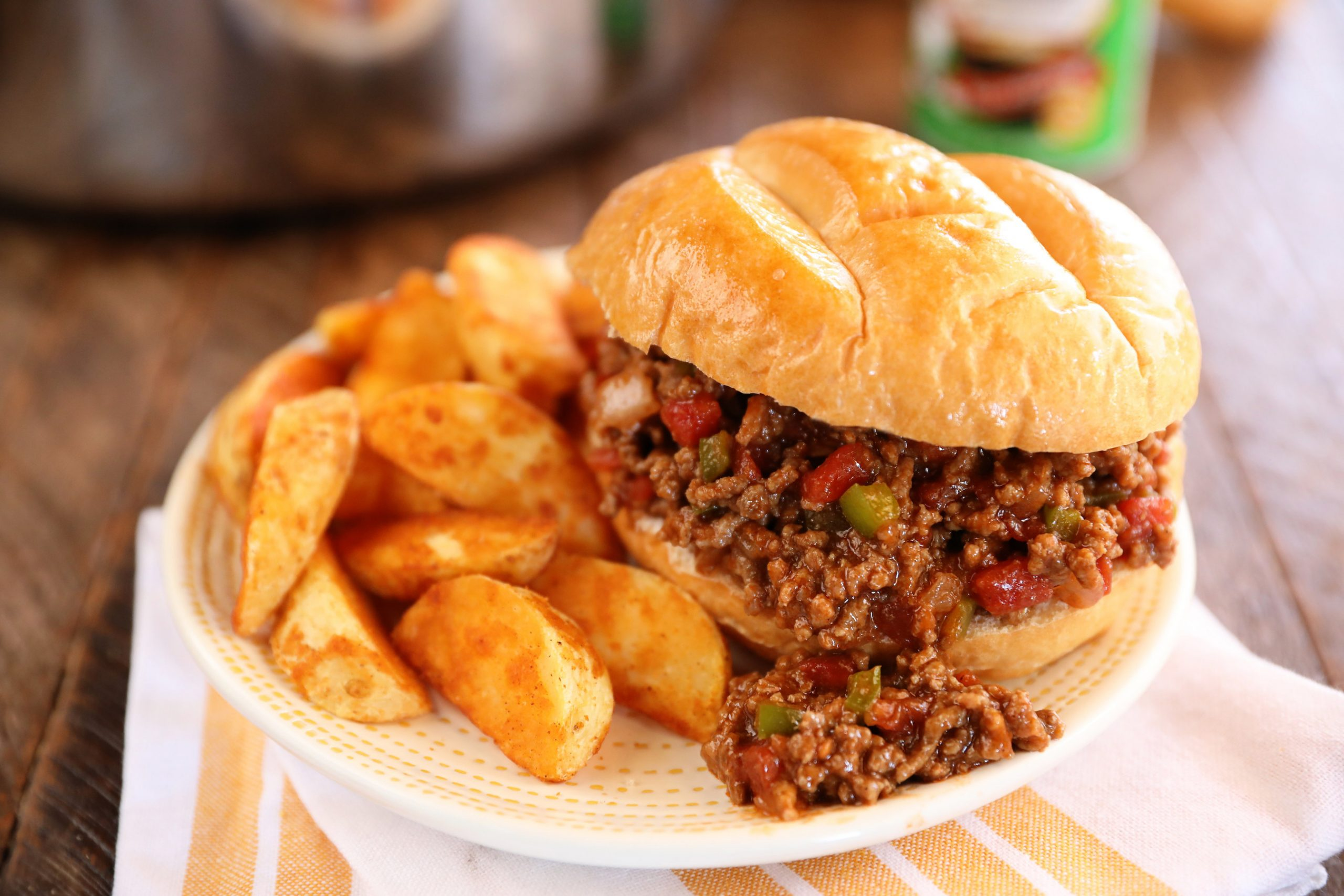 There is something about the savory and sweet flavors, and the mess, that we just love about sloppy joes, especially these from Southern Bite and made with Tony Chachere's.
