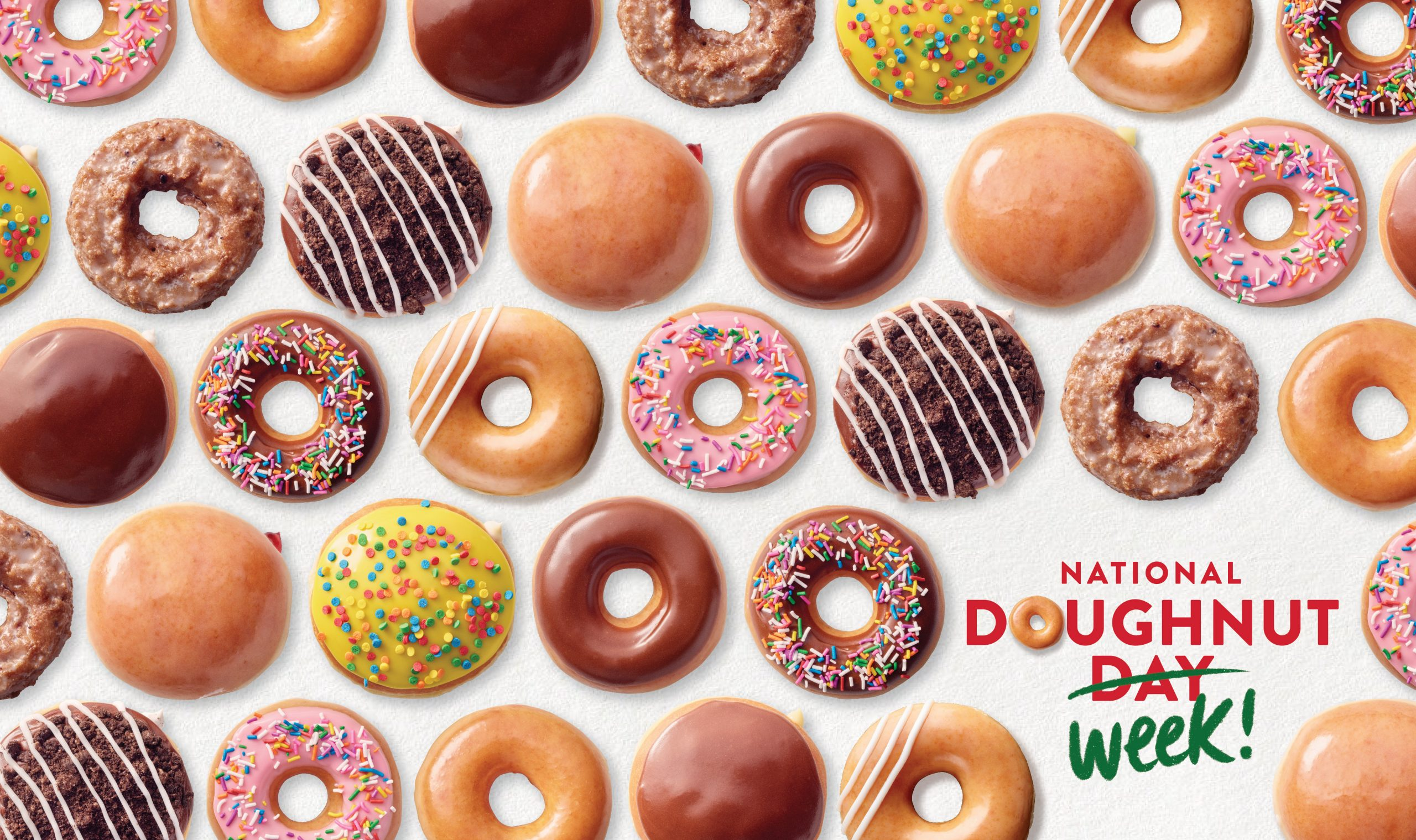 Krispy Kreme extends National Doughnut Day to National Doughnut Week, offering fans any doughnut of choice for FREE, no purchase necessary, June 1 through June 5