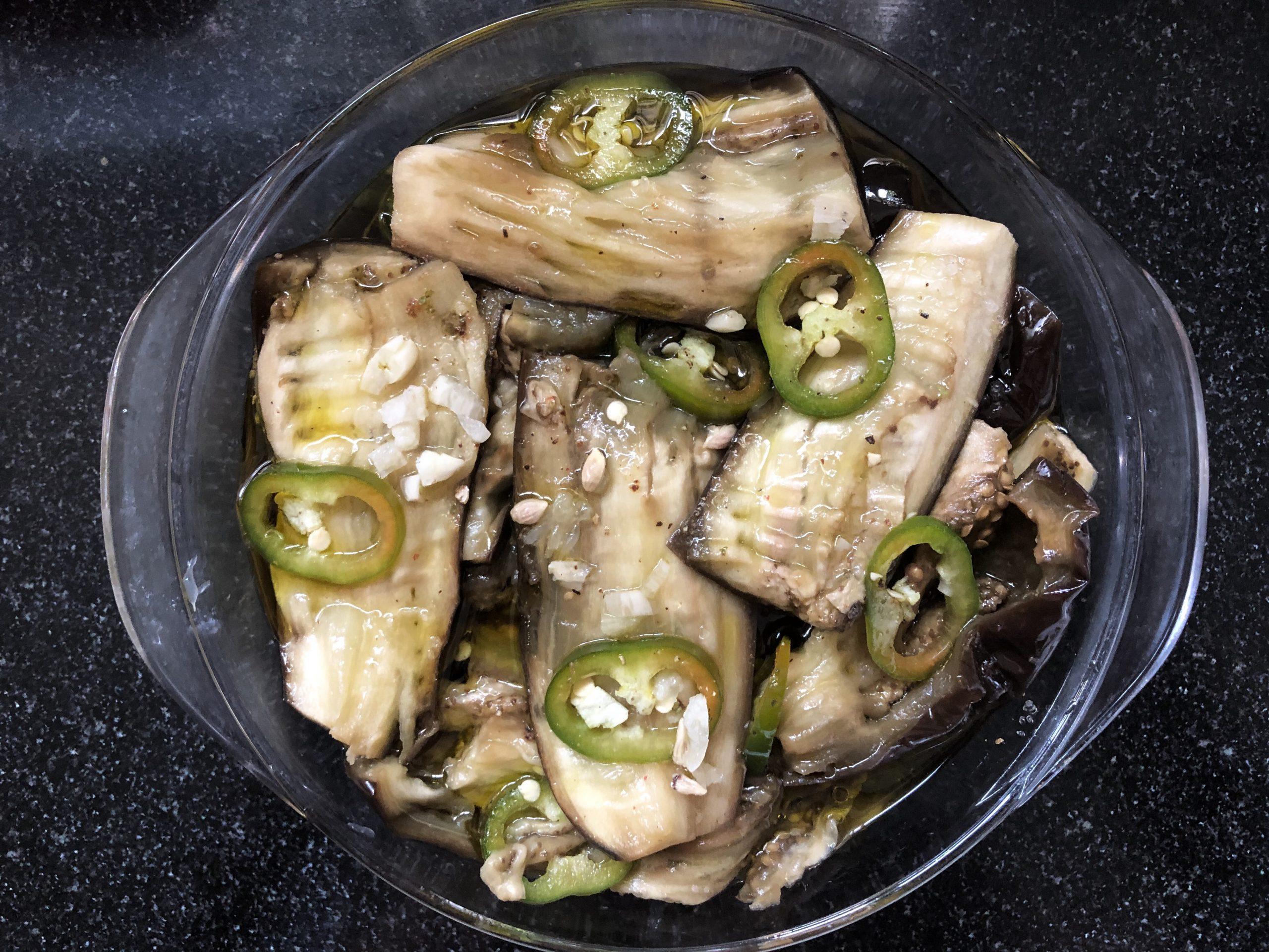 Steamed Eggplants