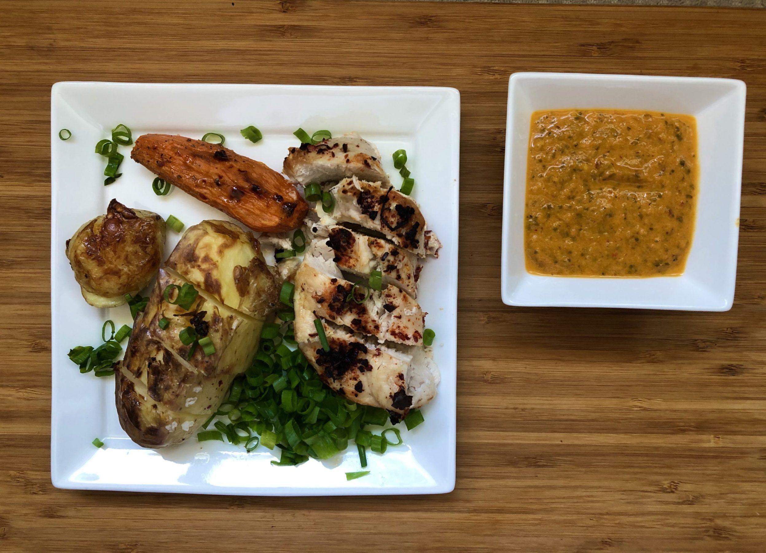 Paprika Chicken Breast and Roasted Potato Mix