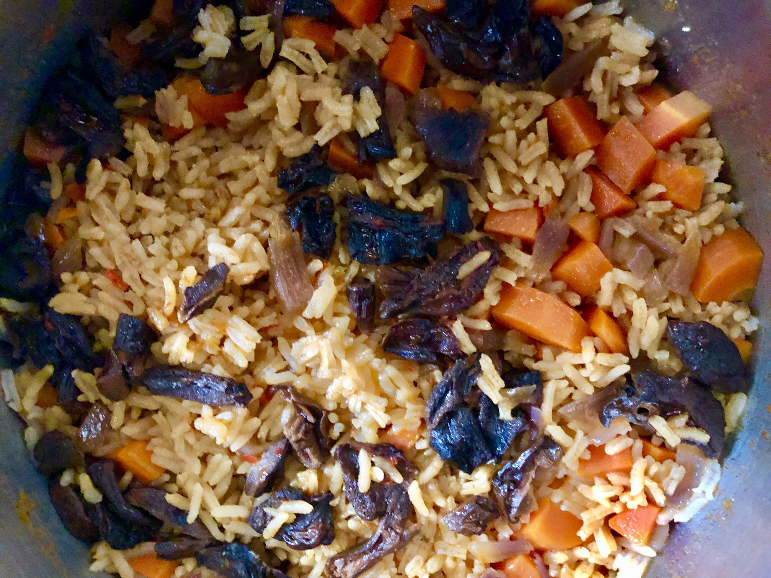 Rice Pilaf with Dried Mushrooms