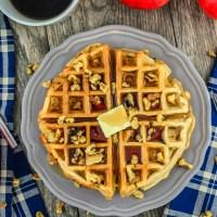 Apple Walnut Waffles