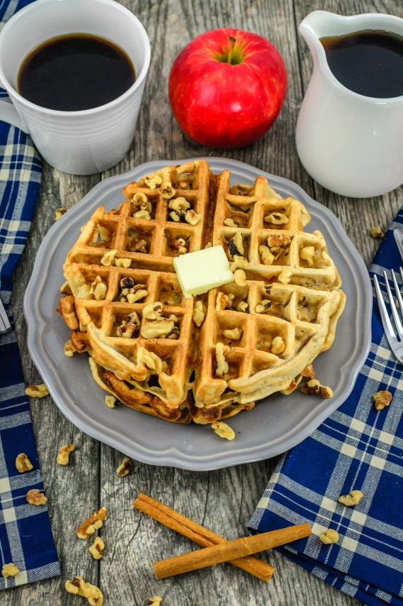 cinnamon-spiced-apple-walnut-waffles
