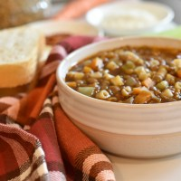 Green Lentil Noodle Soup