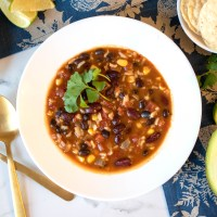 Taco Rice and Beans Soup