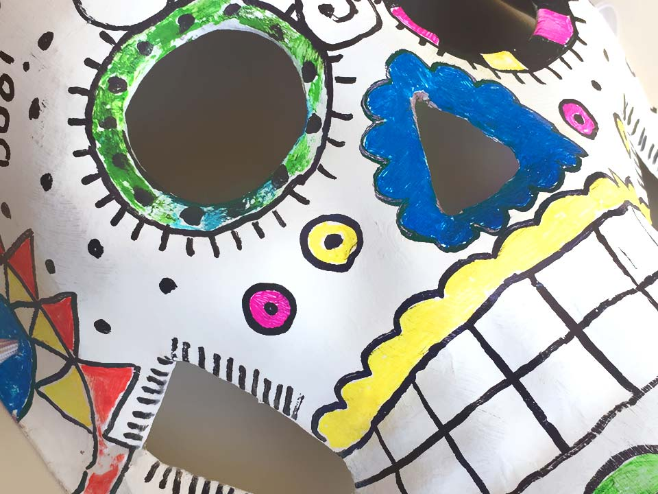 Handmade Day of The Dead Mask Halloween Crafts