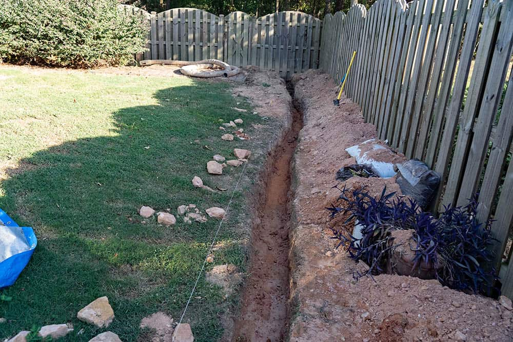 how to dig a trench for drainage 10