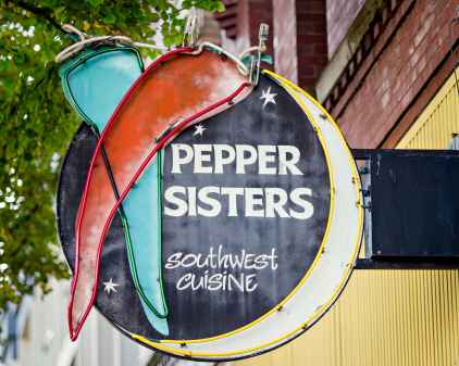 Pepper Sisters Southwest Cuisine Sign-min