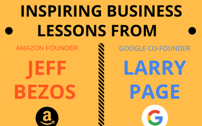 Infographic: Practical and Inspiring Business Lessons from Jeff Bezos and Larry Page