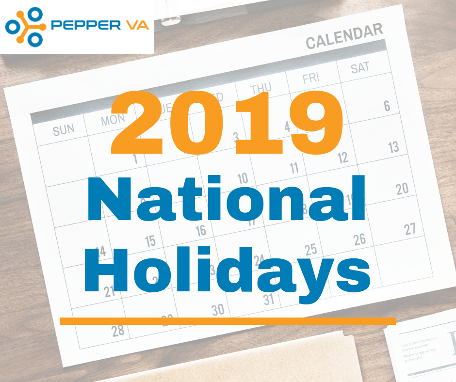 2019 Official Philippine Holidays - Pepper Virtual Assistants
