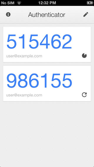 Google Authenticator for iOS