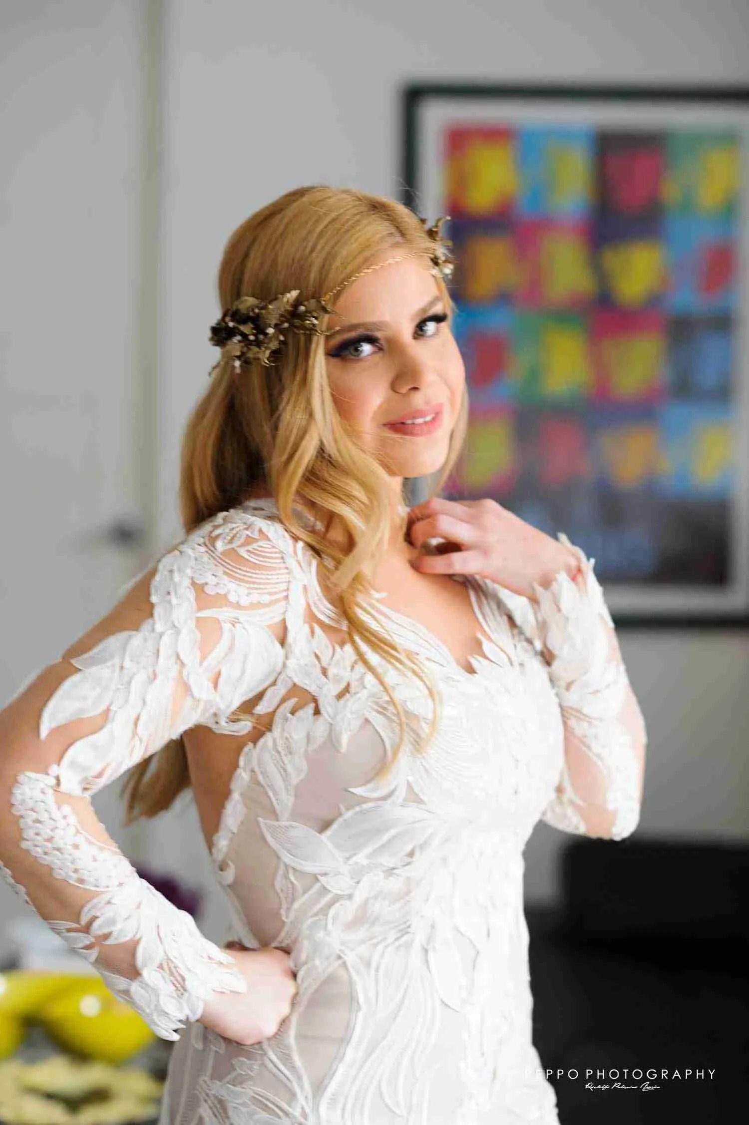 Retrato de Johanna lista para su Boda Civil