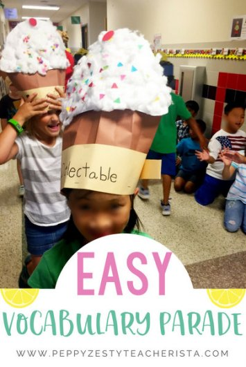 Elementary education teacher looking for vocabulary strategies to strengthen reading comprehension? Fabulous vocabulary activities include a vocabulary parade! This blog post you will find vocabulary parade words, vocabulary parade costumes, and vocabulary parade ideas!