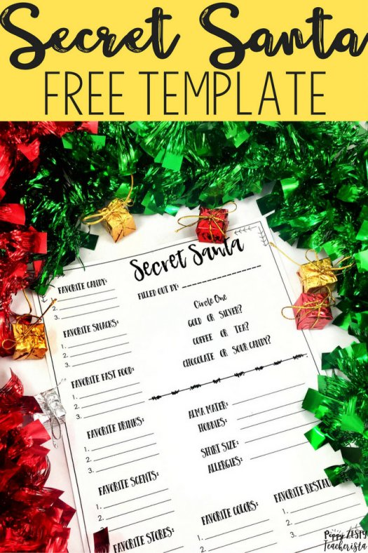 Elementary teacher looking for secret santa ideas? These secret santa ideas for coworkers is perfect to jumpstart your December! Free template! Holiday in the classroom | December classroom activities
