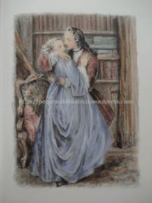 Ilustração de Paul-Émile Bécat para La Surprise de l'Amour de Marivaux