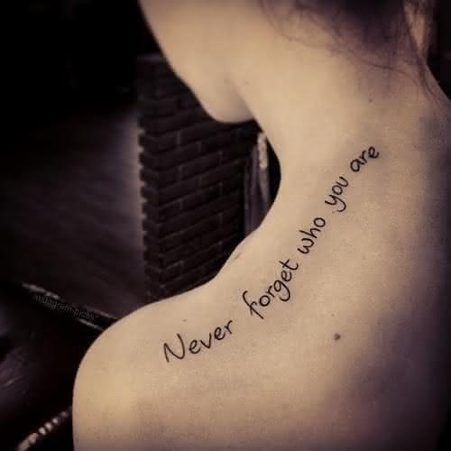 Tatuagens Femininas De Frases No Ombro