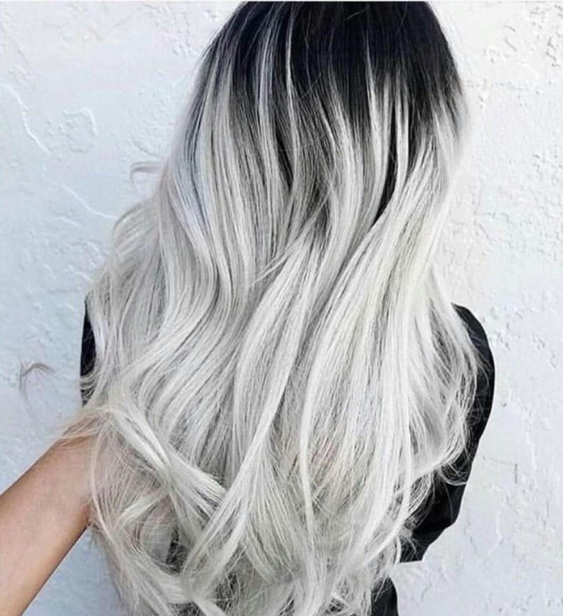 cabelo Platinado 2022 Com Raiz Escura