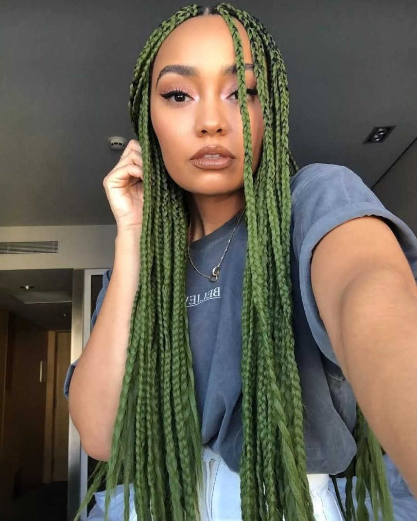 Box Braids verde