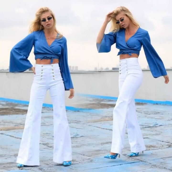 Tendências de calça 2022 branca