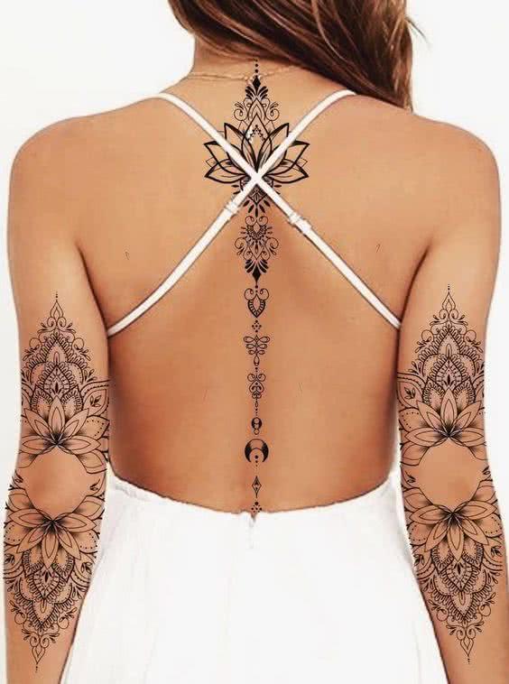 Tatuagens Femininas 2022 → Pulso, Costas, Braço e Perna (Dicas)