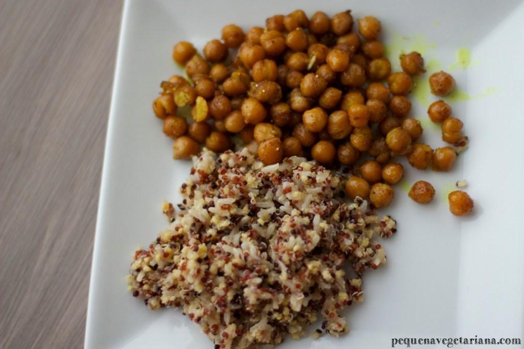 Grao de bico ao coco e curry - receitas indianas vegetarianas