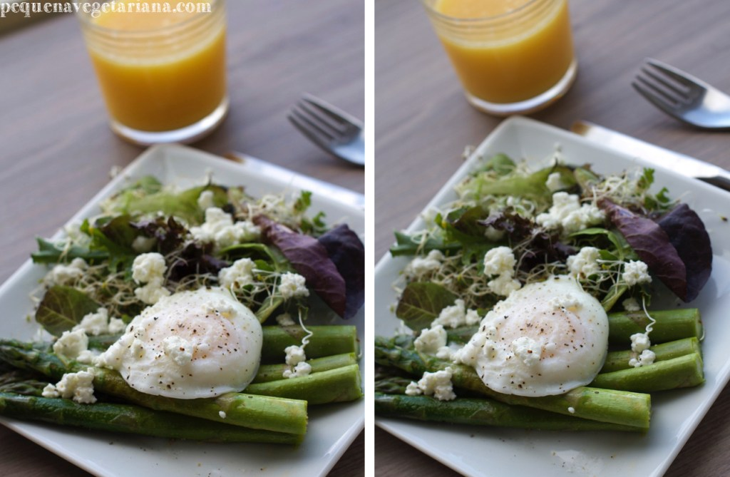Receita de aspargo para o almoco vegetariano, prato vegetariano