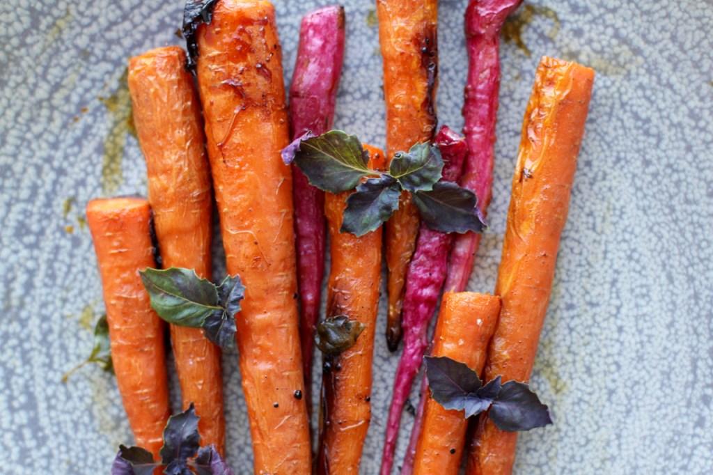 Prato com cenoura vegetariano