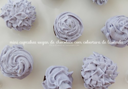 Mini cupcakes de chocolate vegano