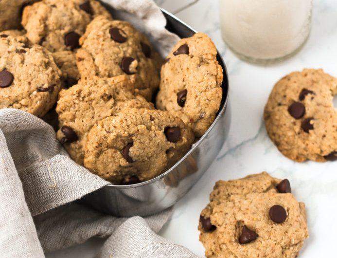 Cookies com gotas de chocolate, pequena vegetarianas, cookies veganos, cookies com gotas de chocolate vegano, sobremesa vegan, pequena vegetariana, receita de cookie