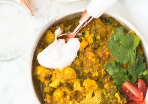 Dahl de lentilhas vermelhas com couve-flor, receita, pequena vegetariana, ana Tavares, comidinhas do bem, o que e masala, masala, dahl, comida indiana, receitas índianas veganas