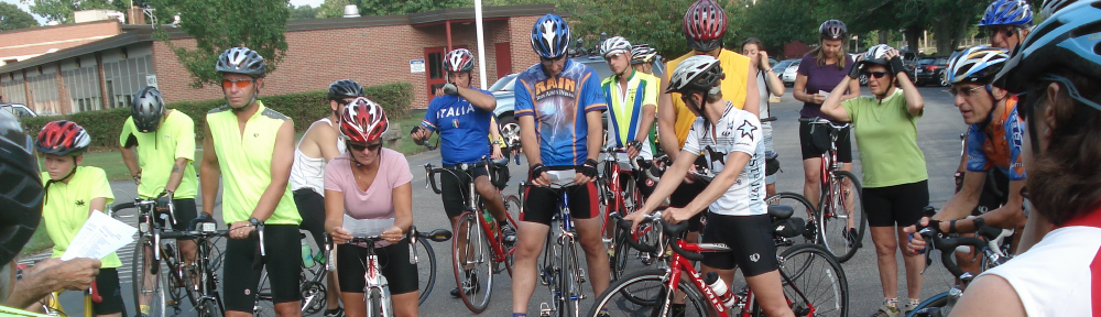 pre ride group shot