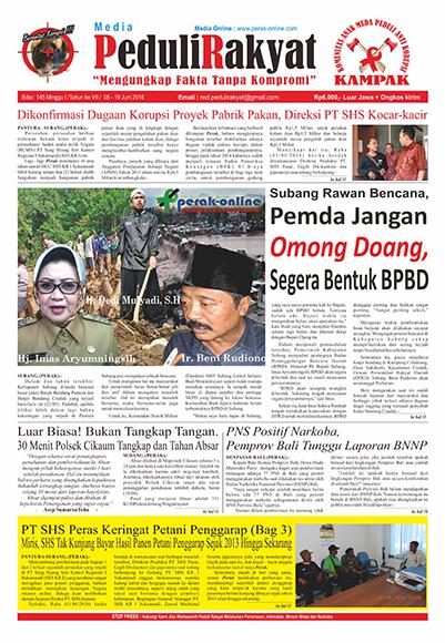 Koran Subang Peduli Rakyat Edisi 145