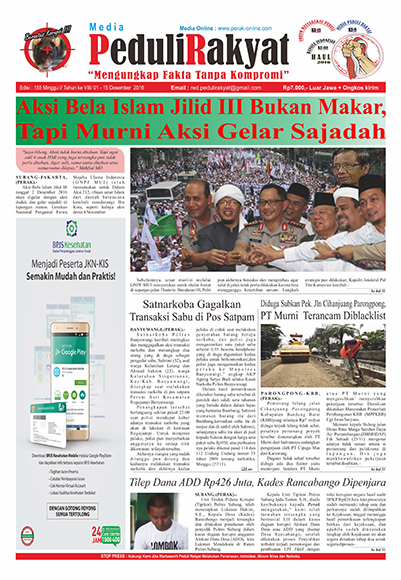 Koran Subang Peduli Rakyat Edisi 155