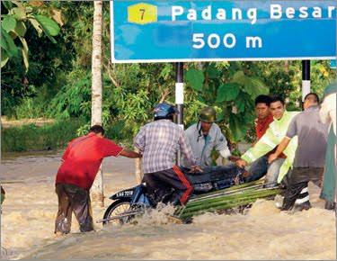 KTM Nafi Pembinaan Landasan Berkembar Elektrik Punca Banjir