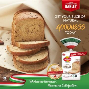 Massimo perkenal roti multigrain dengan barli