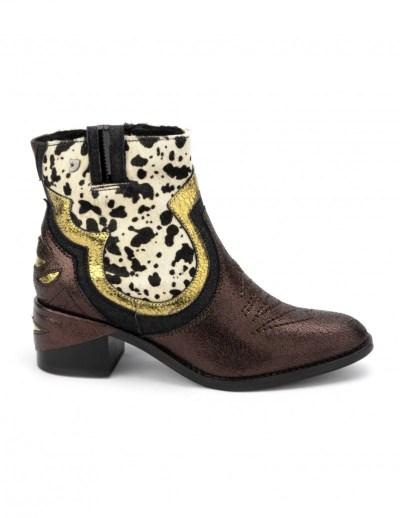 botas cowboy mujer metalizadas
