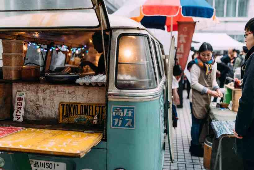 Tokyo food truck business from a van in Shibuya ward
