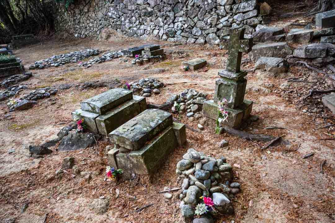 christian graves at gorin village on hisaka island